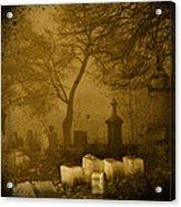 Foggy Necropolis Acrylic Print