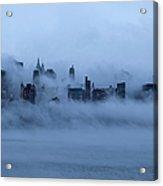 Foggy New York City Acrylic Print