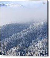 Foggy Peak Acrylic Print