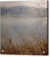 Foggy River Acrylic Print