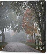 Foggy Street Acrylic Print