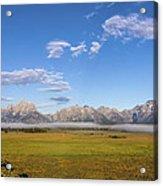 Foggy Sunrise On The Tetons - Grand Teton National Park Wyoming Acrylic Print