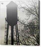 Foggy Tower Silhouette Acrylic Print