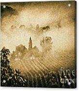 Foggy Tuscany Acrylic Print
