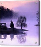 Foggy Twilight Acrylic Print