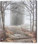 Foggy View Of The Summit Of Mount Battie Acrylic Print