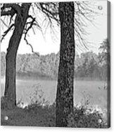 Foggy Waters Bw Acrylic Print