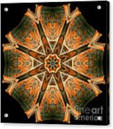 Folded 8-pointed Kaleidoscope Image Acrylic Print