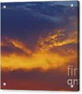 Folded Sunset Acrylic Print