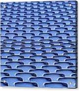 Folding Plastic Blue Seats Acrylic Print