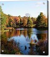 Foliage Pond - Route 66 - Massachusetts Acrylic Print