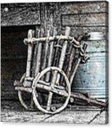 Folk Art Cart Still Life Acrylic Print by Tom Mc Nemar