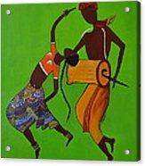 Folk Dance Acrylic Print by Shruti Prasad