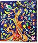 Folk Tree Acrylic Print