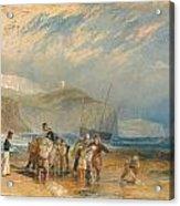 Folkestone Harbour And Coast To Dover Acrylic Print