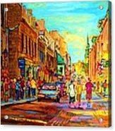 Follow The Yellow Brick Road Acrylic Print
