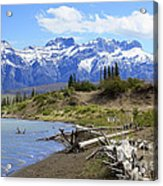 Following The Athabasca River Acrylic Print