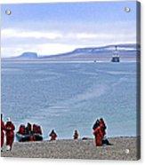 Following The Footsteps Of  Roald Amundsen.. Acrylic Print