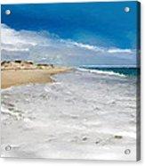 Folly Beach Scenic Walk Acrylic Print