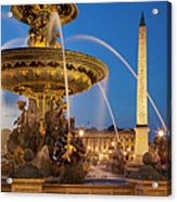 Fontaine Des Mers Acrylic Print