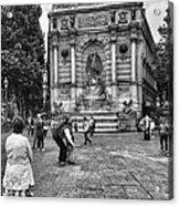 Fontaine Saint Michel Acrylic Print