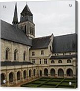 Fontevraud Abbey Courtyard -  France Acrylic Print