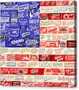 Food Advertising Flag Acrylic Print