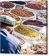 Food At Local Bazaar - Kashgar - China Acrylic Print