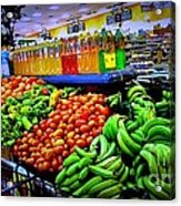 Food Market Acrylic Print by Denisse Del Mar Guevara