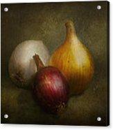 Food - Onions - Onions  Acrylic Print by Mike Savad