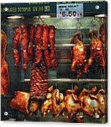 Food - Roast Meat For Sale Acrylic Print