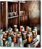 Food - The Winter Pantry  Acrylic Print by Mike Savad