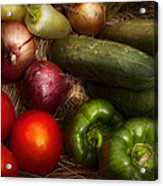 Food - Vegetables - Onions Tomatoes Peppers And Cucumbers Acrylic Print