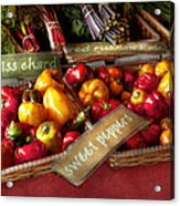 Food - Vegetables - Sweet Peppers For Sale Acrylic Print