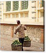 Food Vendor On Street Hanoi Vietnam Acrylic Print