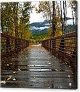 Foot Bridge In Grand Teton Acrylic Print