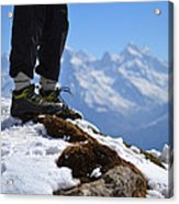 Foot On The Himalyas Acrylic Print