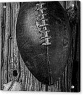 Football And Baseball Acrylic Print