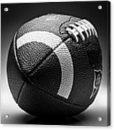 Football Black And White Acrylic Print