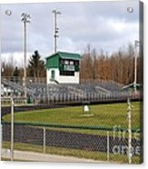 Football Field In Clare Michigan Acrylic Print