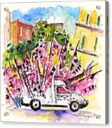 Football Flags From Palermo Acrylic Print