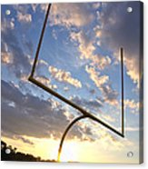 Football Goal At Sunset Acrylic Print