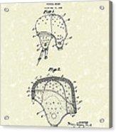 Football Helmet 1924 Patent Art Acrylic Print