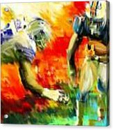 Football IIi Acrylic Print by Lourry Legarde