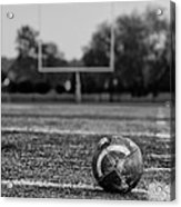 Football In Black And White Acrylic Print