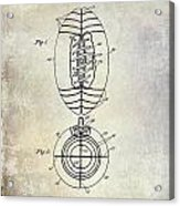 1925 Football Patent Drawing Acrylic Print