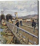 Footbridge At Argenteuil Acrylic Print