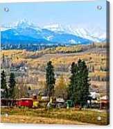 Foothills' Farming Country Acrylic Print