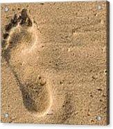 Footprint In The Sand Acrylic Print