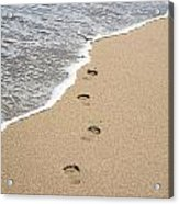 Footprints In Sand Acrylic Print